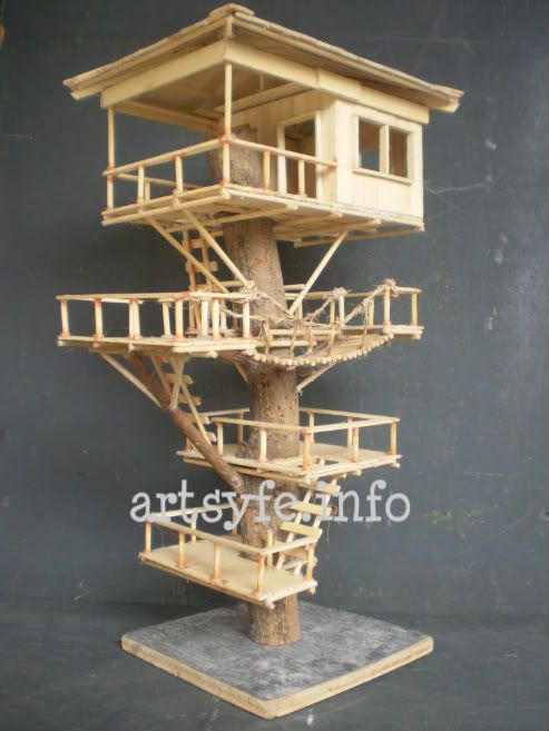 Tree house hubby 39 s creations pinterest tree houses for How to build a treehouse with sticks