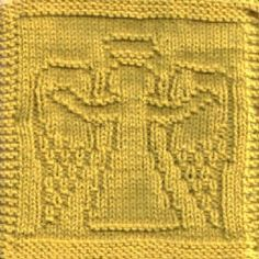 Angel Of Welcome Dishcloth Knit Pattern