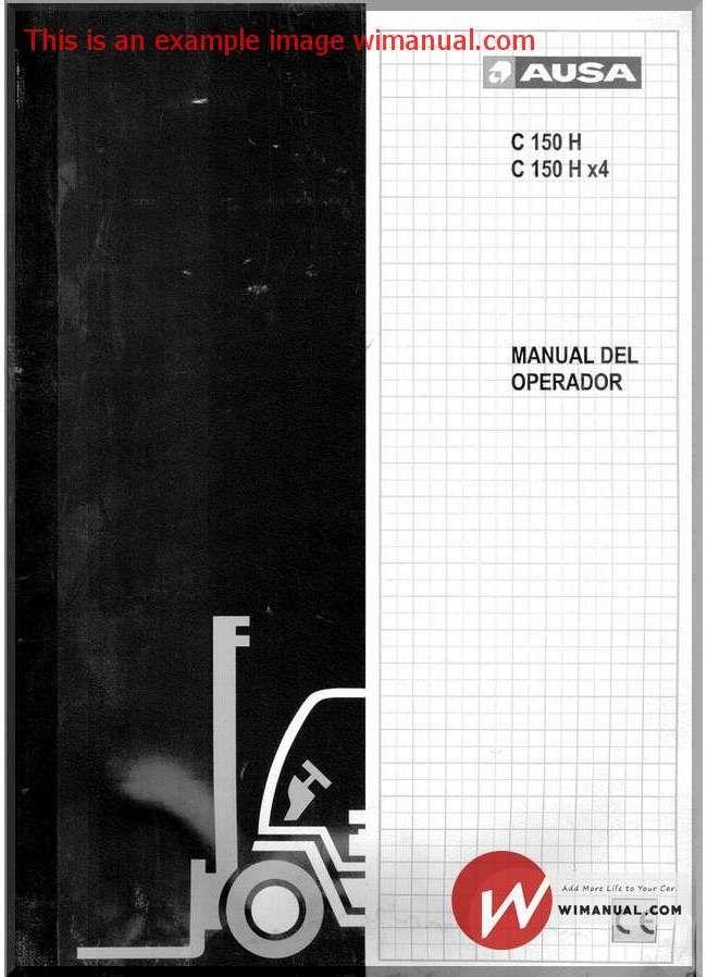 Ausa Forklift C150 Service Manual Fr Forklift Manual Hydraulic Pump