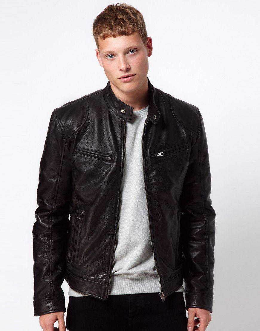 Barney's Originals | Barneys Originals Leather Jacket Biker