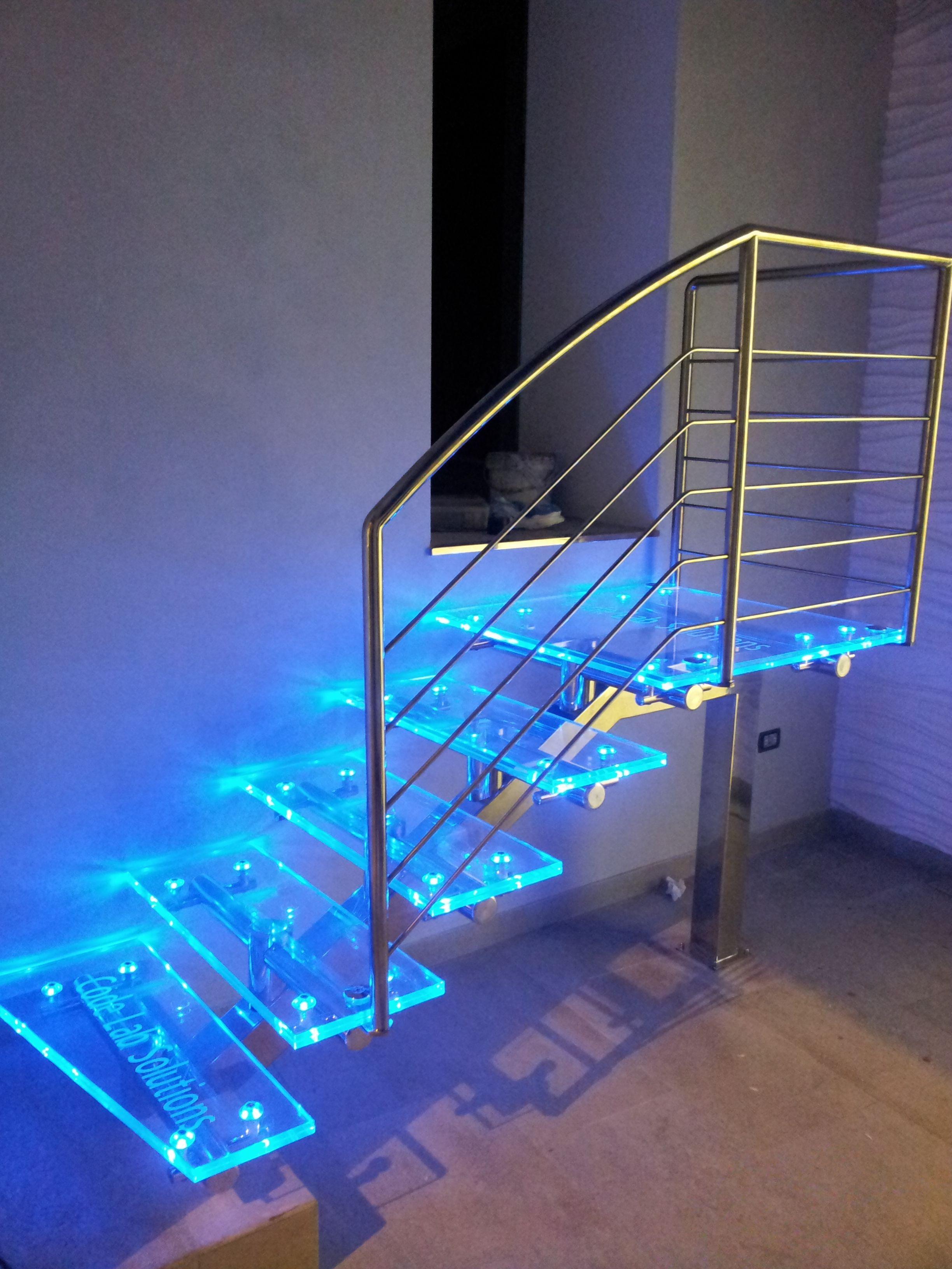 Best Stairs Inox Glass Light Esclusive Sistem Fixed Glass 640 x 480