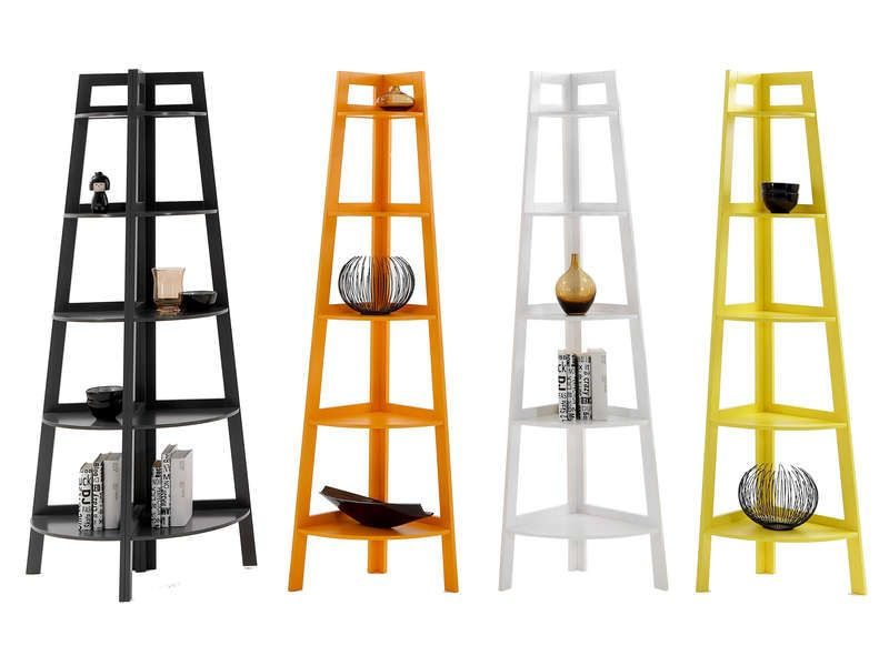 Etagere D Angle Coloris Jaune Vente De Etagere Conforama Home Ladder Bookcase Decor