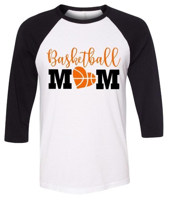 2716fcfbbc0 Basketball Mom Glitter Raglan Basketball Shirt Designs, Basketball Mom  Shirts, Raglan Shirts, Team