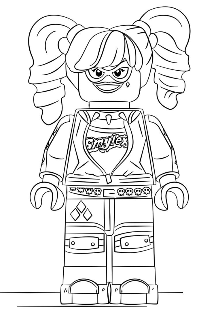 lego poison ivy coloring pages | lego harley quinn printable coloring pages | Coloring ...