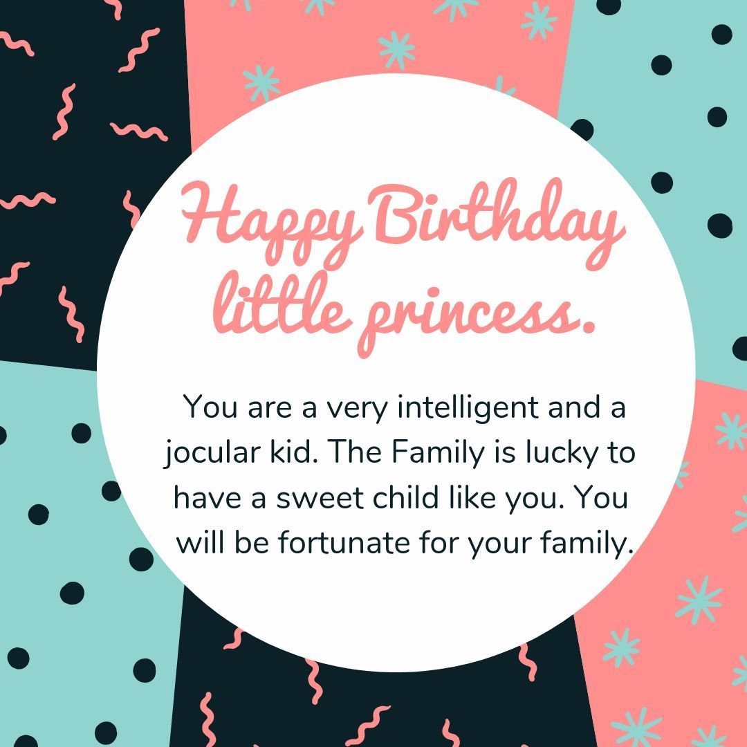 Cute Birthday Wishes For Little Princess Image