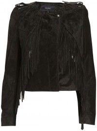 ISABEL MARANT suede jacket with studs fringes    www.insbuyr.com