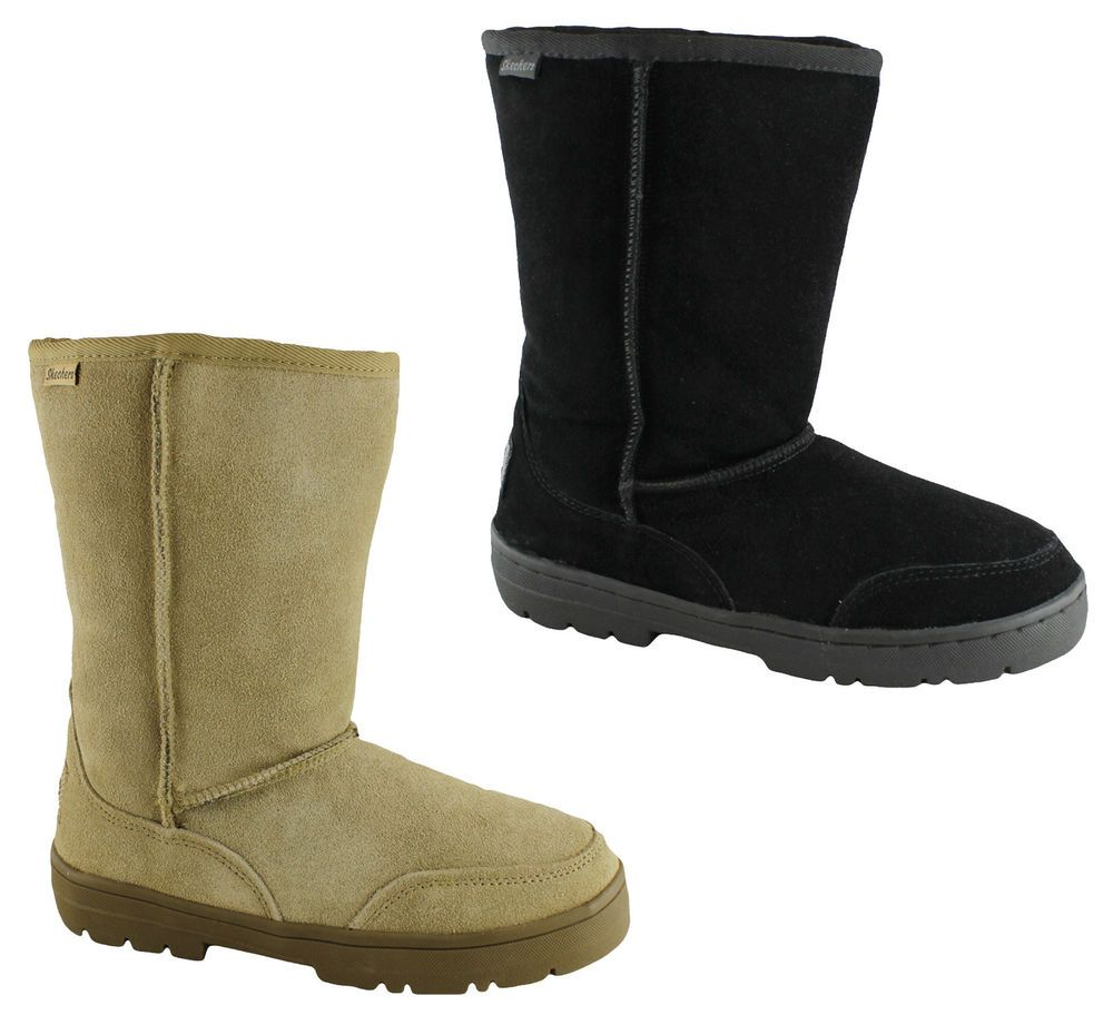 skechers slipper boots