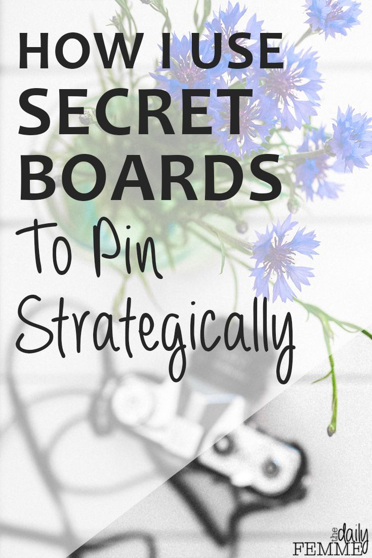 Pinterest growth doesn't 'just happen'. It takes a plan and a goal to pin strategically and this is how I use secret boards to help increase my repins, increase my followers and drive more traffic back to my website. Pinterest Tips.