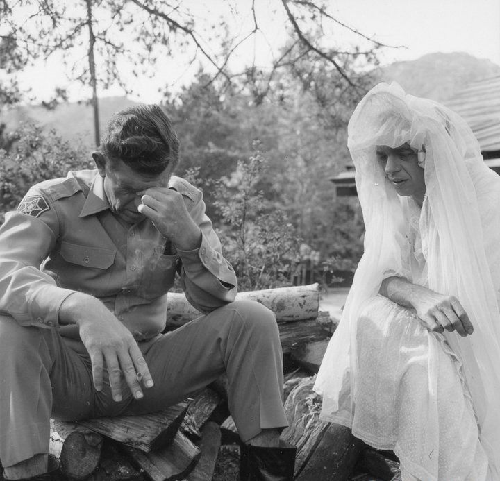 Barney Undercover In A Wedding Dress To Fool Ernest T B Played By Howard Morris Still From The Andy Griffith Show