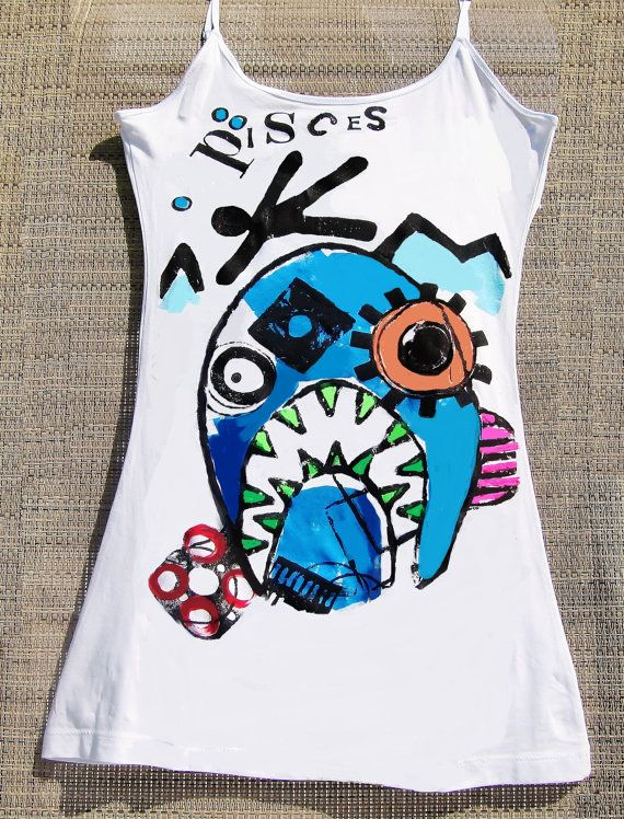 Zodiac Pisces Tank Top / Zodiac Tee / Pisces T Skinny Heffa = Small  Might be Tight = Medium  Large and In Charge = Large (Additional sizes will be added soon)