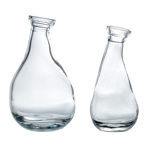 Vrvind Vase Set Of 2 Ikea The Unique Shape Makes The Vases