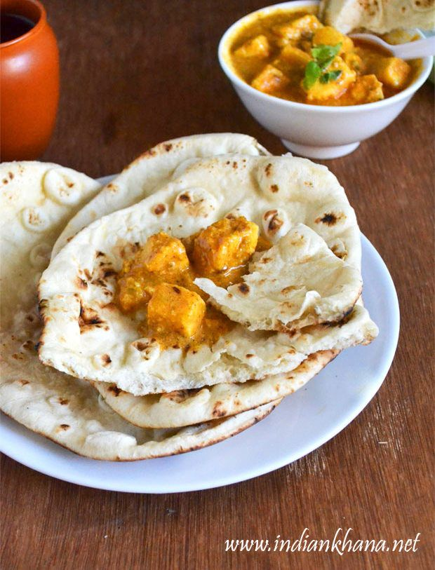 Naan Recipe without Yeast | Naan on Stove Top Recipe ...