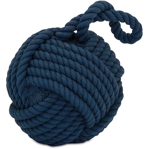 IMAX Blue Hauer Rope Ball Décor (20 AUD) ❤ liked on Polyvore featuring home, home decor, holiday decorations, blue home decor and blue home accessories