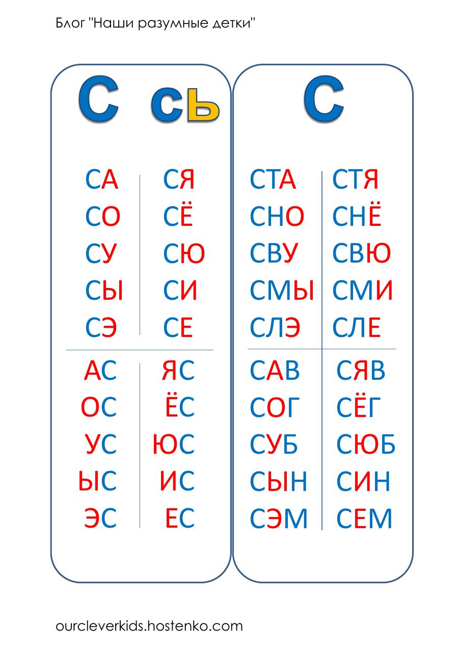 Раскраски раскраски слоговая таблица слоговая таблица ...