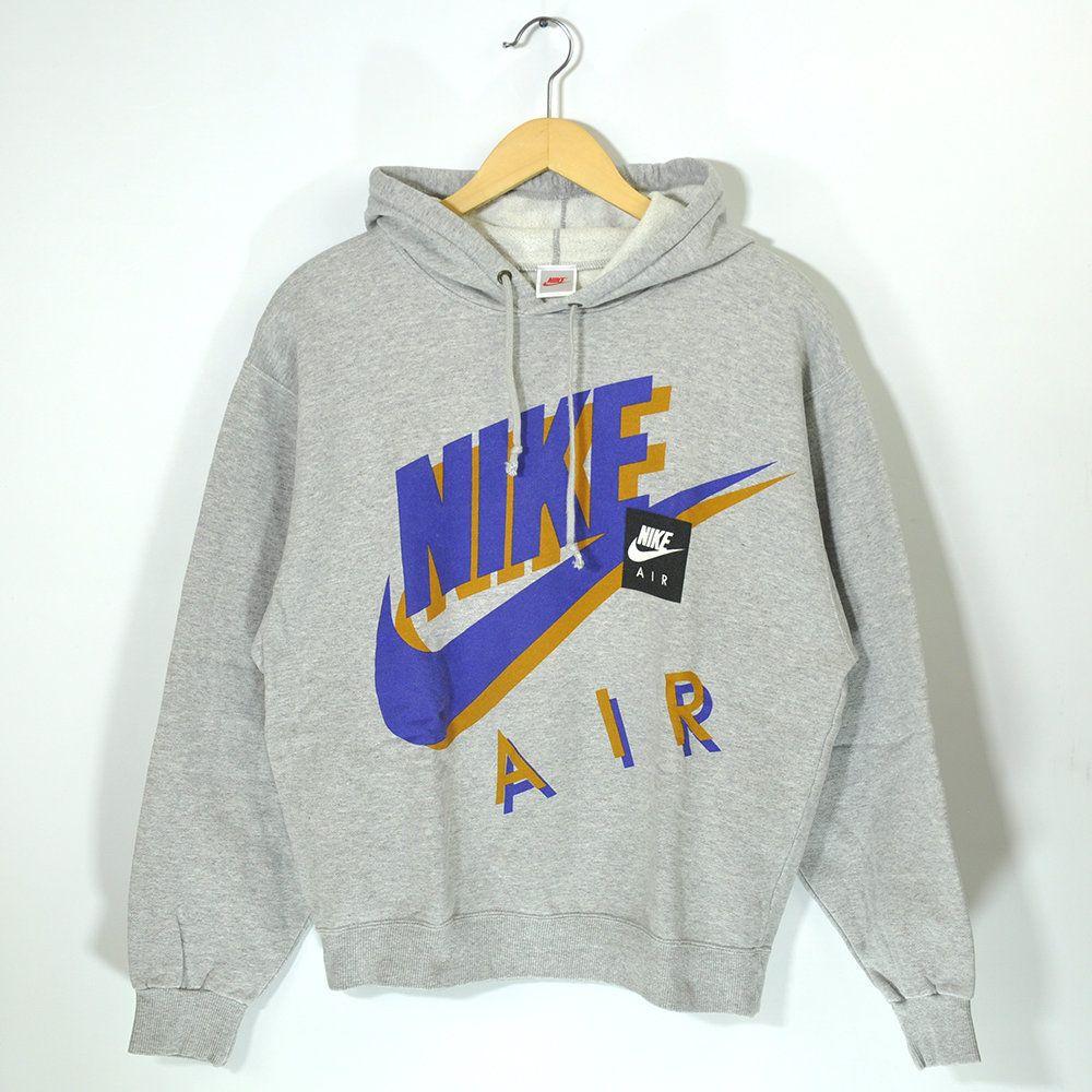 Nike Air Vintage 80s 90s Nike Pullover Jumper Hoodie Sweatshirt Retro Classic Old School Streetwear Big Logo Swoosh Nike Hip Hop Hypebeast Nike Pullover Sweatshirts Sweatshirts Hoodie [ 1000 x 1000 Pixel ]