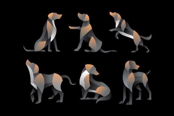 Pack of Geometry Dog Illustration Vector #Sponsored , #affiliate, #Geometry, #Pack, #Dog, #Vector