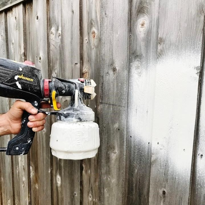 How to paint a fence with a sprayer wagner spraytech