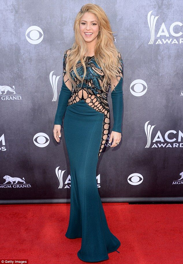 Proud mother: Shakira, pictured here at the Annual Academy Of Country Music Awards in Las ...