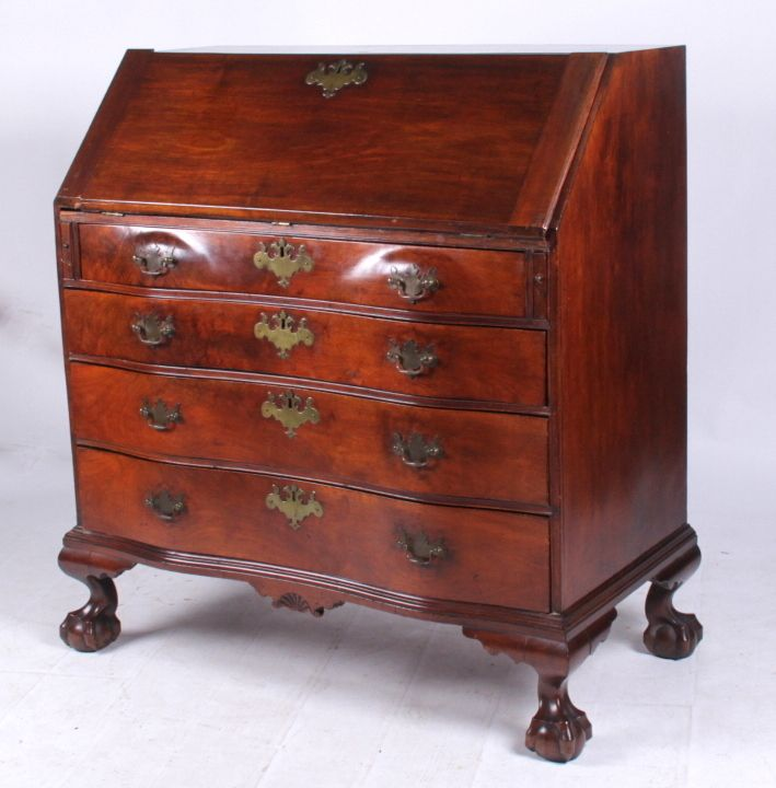 Antique furniture · A Massachusetts Slant Front Oxbow Desk c. 1770 - A Massachusetts Slant Front Oxbow Desk C. 1770 Furniture And