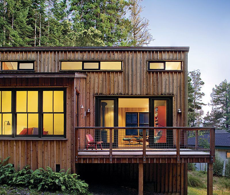 Small Scale Homes: 800 Square Foot Home In The California Redwoods.