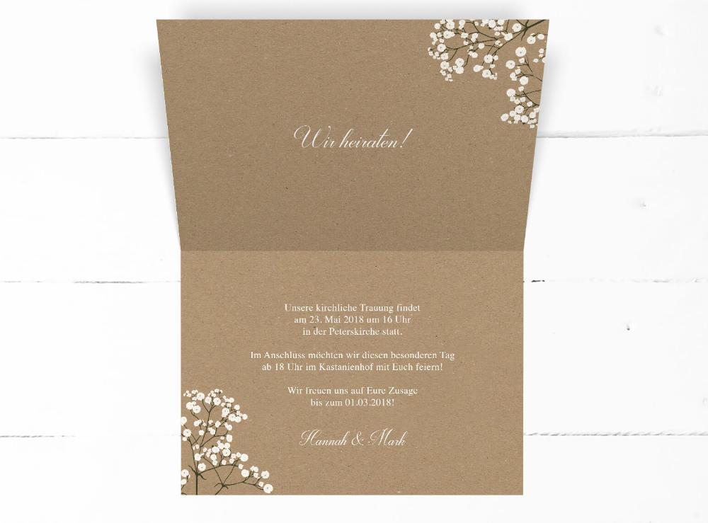 Flourish Pompom Hochzeitseinladung Klappkarte Einladung Hochzeit Zusage