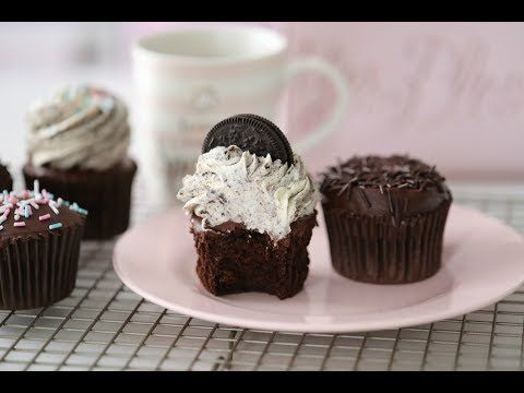 CHOCOLATE CUPCAKES & OREO FROSTING - Passion For Baking :::GET INSPIRED:::