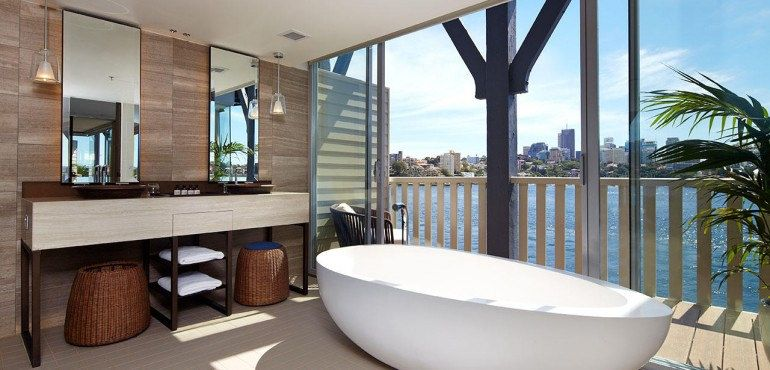 Admiral Suite At The Pier One Sydney Harbour Luxury Hotel Bathroom Charming House Sydney Hotel