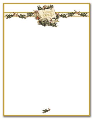 photo relating to Christmas Letter Paper Free Printable identified as cost-free traditional printable stationery - Google Glimpse