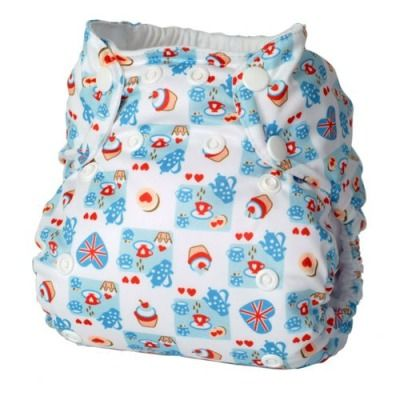 British Jubilee cloth nappy diaper from TotsBots - tea and cakes!
