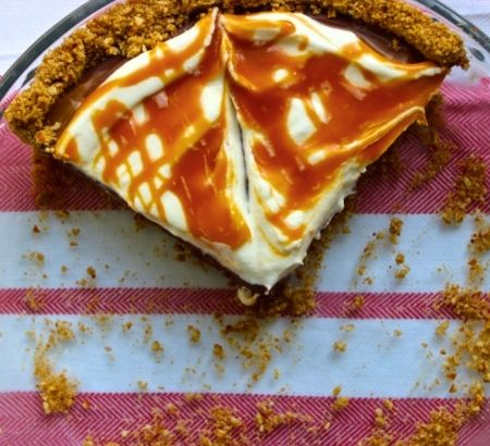 Chocolate Cream Pretzel Pie