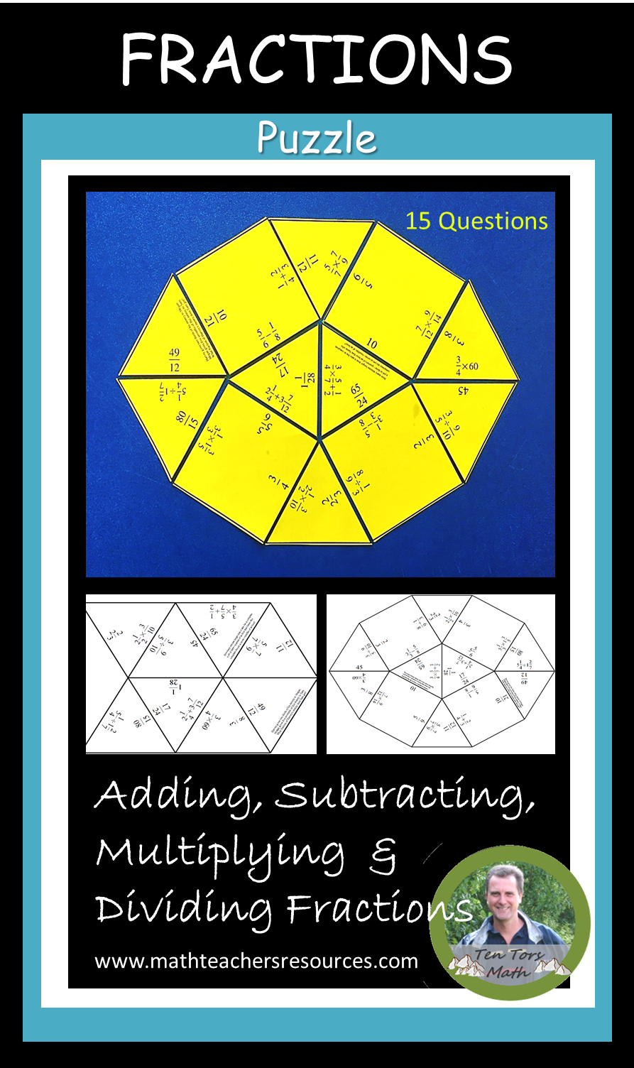 An activity for students to practice multiplying, dividing