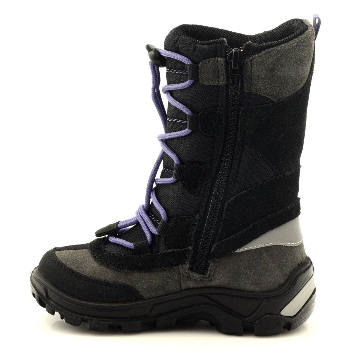 Kozaczki Z Membrana Bartek 34252 Szare Fioletowe Czarne Combat Boots Army Boot Boots