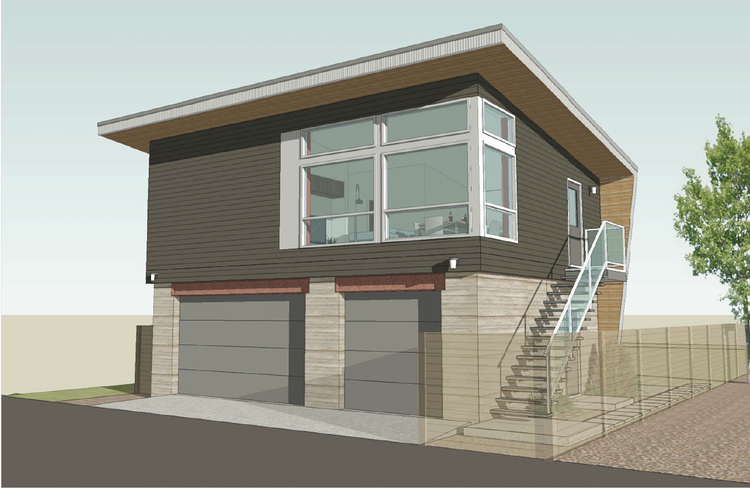 A Few Thoughts On Infill In Edmonton Carriage House Plans Garage Apartment Plans Modern House Plans