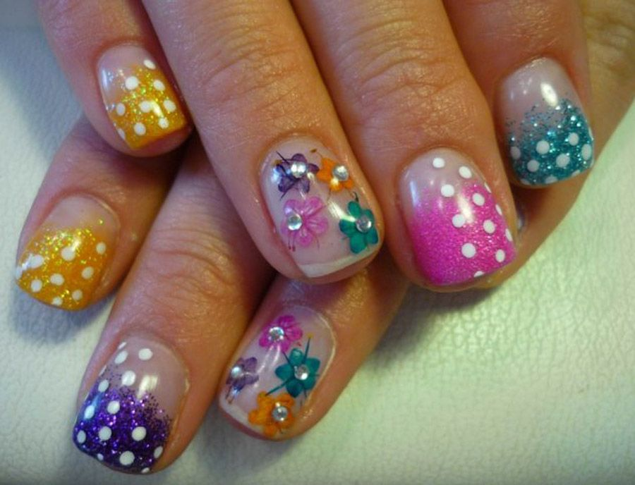 Cute Flower Spring Nail Colors 2013 | Nail Art | Pinterest | Spring ...