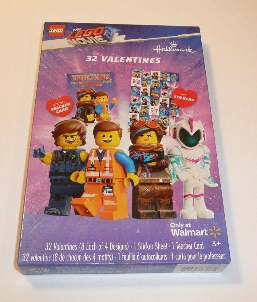 Lego Movie 2 Children S 32 Valentines Valentine S Day Cards Stickers