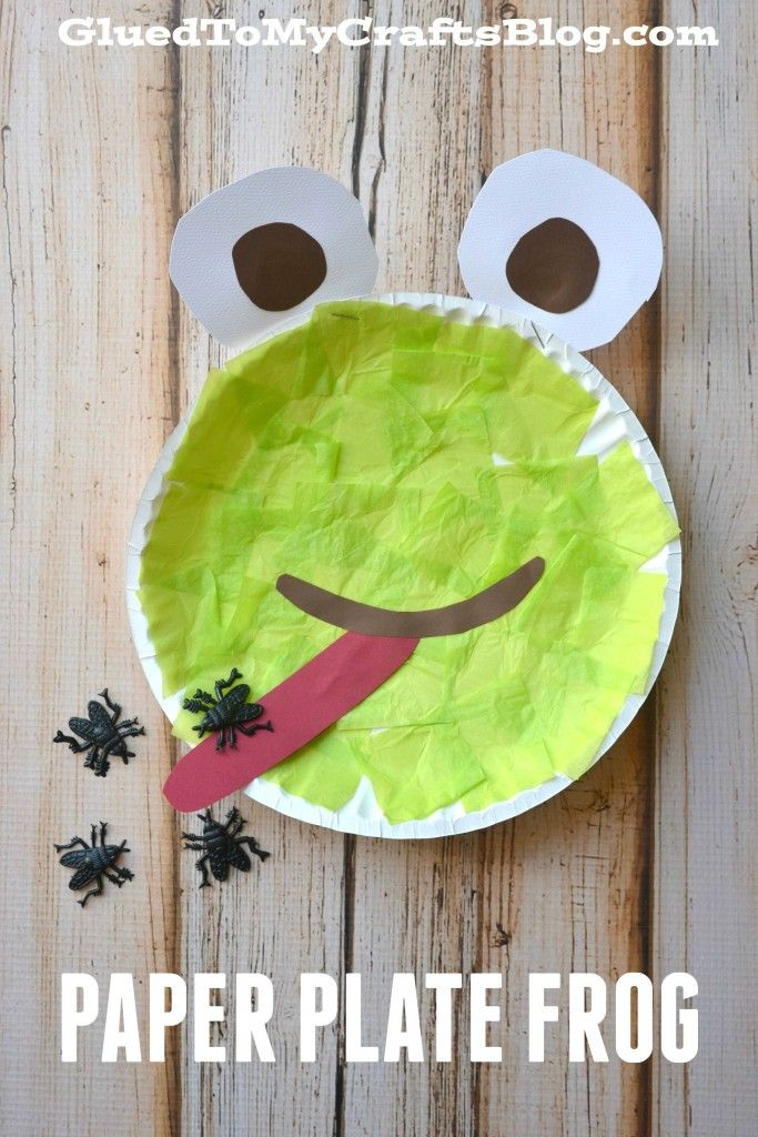 Paper plate frog kid craft frogs craft and activities for Frog crafts for preschoolers