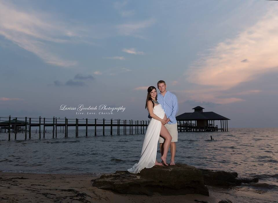 #maternity #larissagoodrichphotography #2014 custom portraits in Baldwin county Alabama Spanish Fort, Alabama Maternity on the bay waters #environmental # dramatic