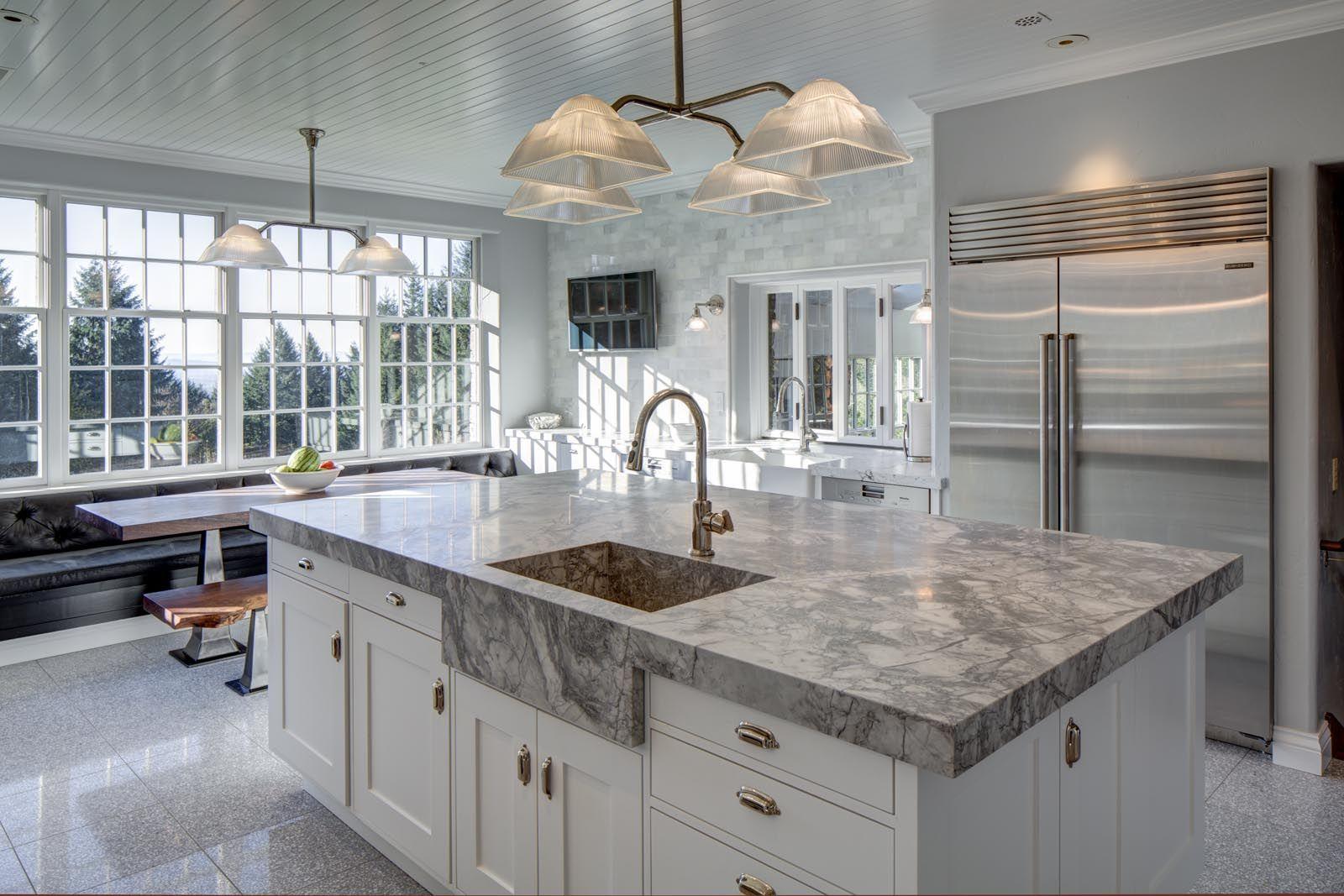 Kitchen Island in Portland Home Remodel | Hammer & Hand