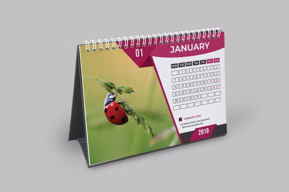 Desk Calendar Template 2019   Corporate Desk Calendar ...