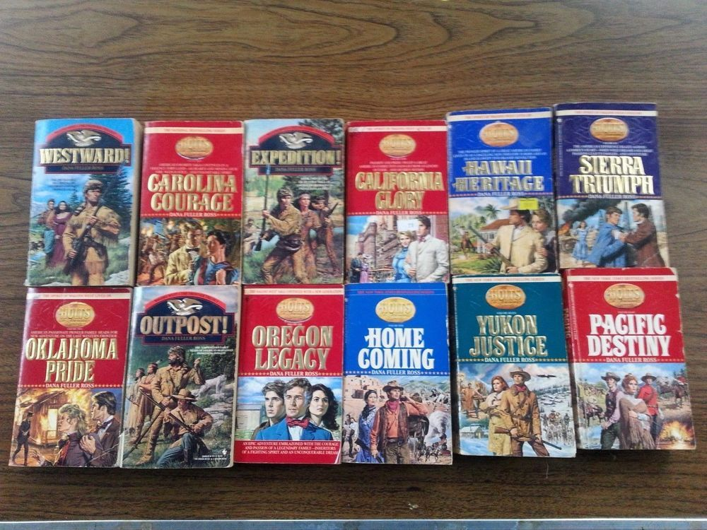 The Holts An American Dynasty Set Dana Fuller Ross Wagons West Trilogy Book Lot