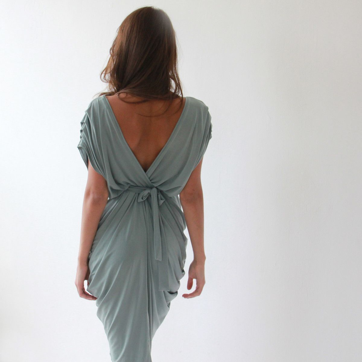 Open back pleated dress hitched ideas pinterest ties love