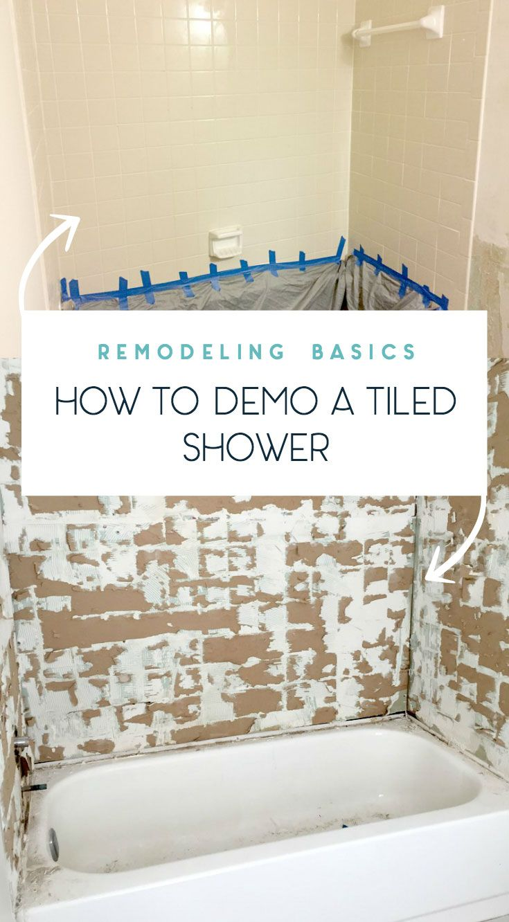 Tips On How To Remove Old Shower Tile Remodel Diy