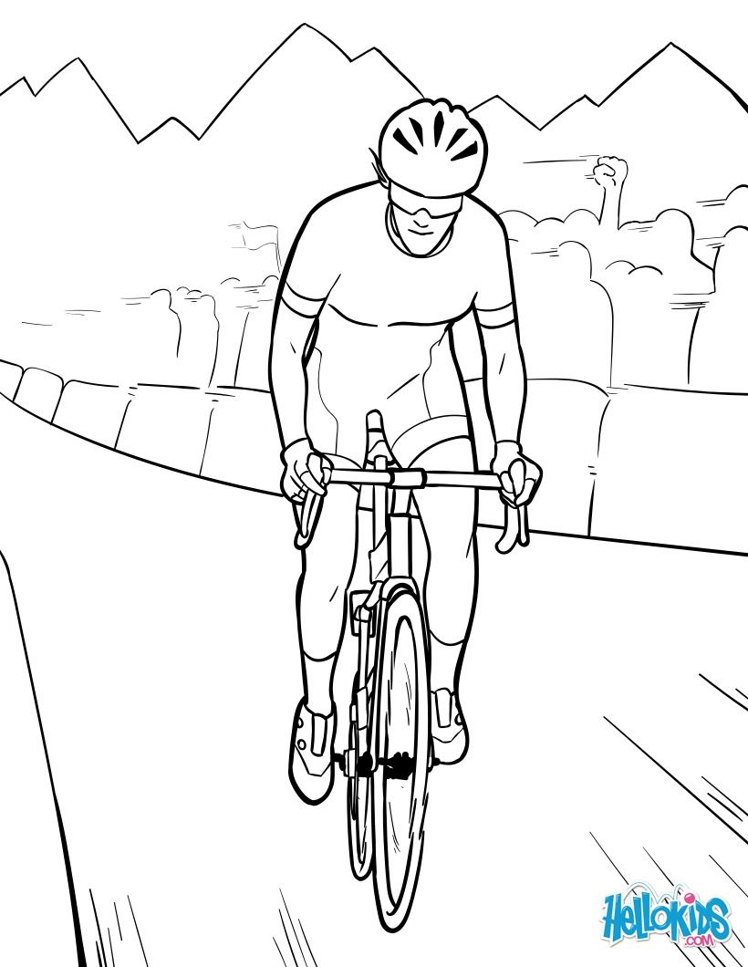 Tour de France coloring page. More cycling and sports coloring ...