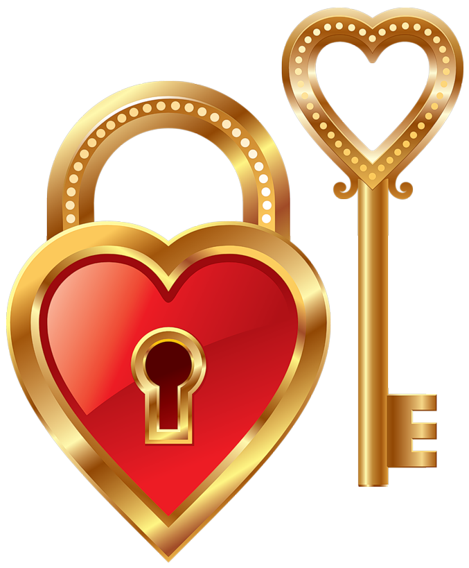 heart lock and heart key clipart hearts amp boxes png