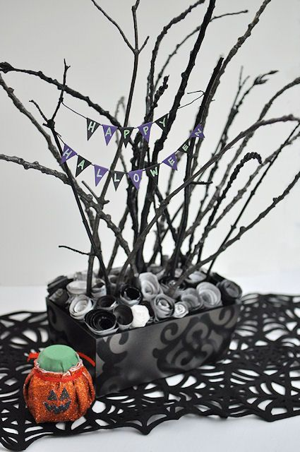 sticky halloween centerpiece - Halloween Centerpiece