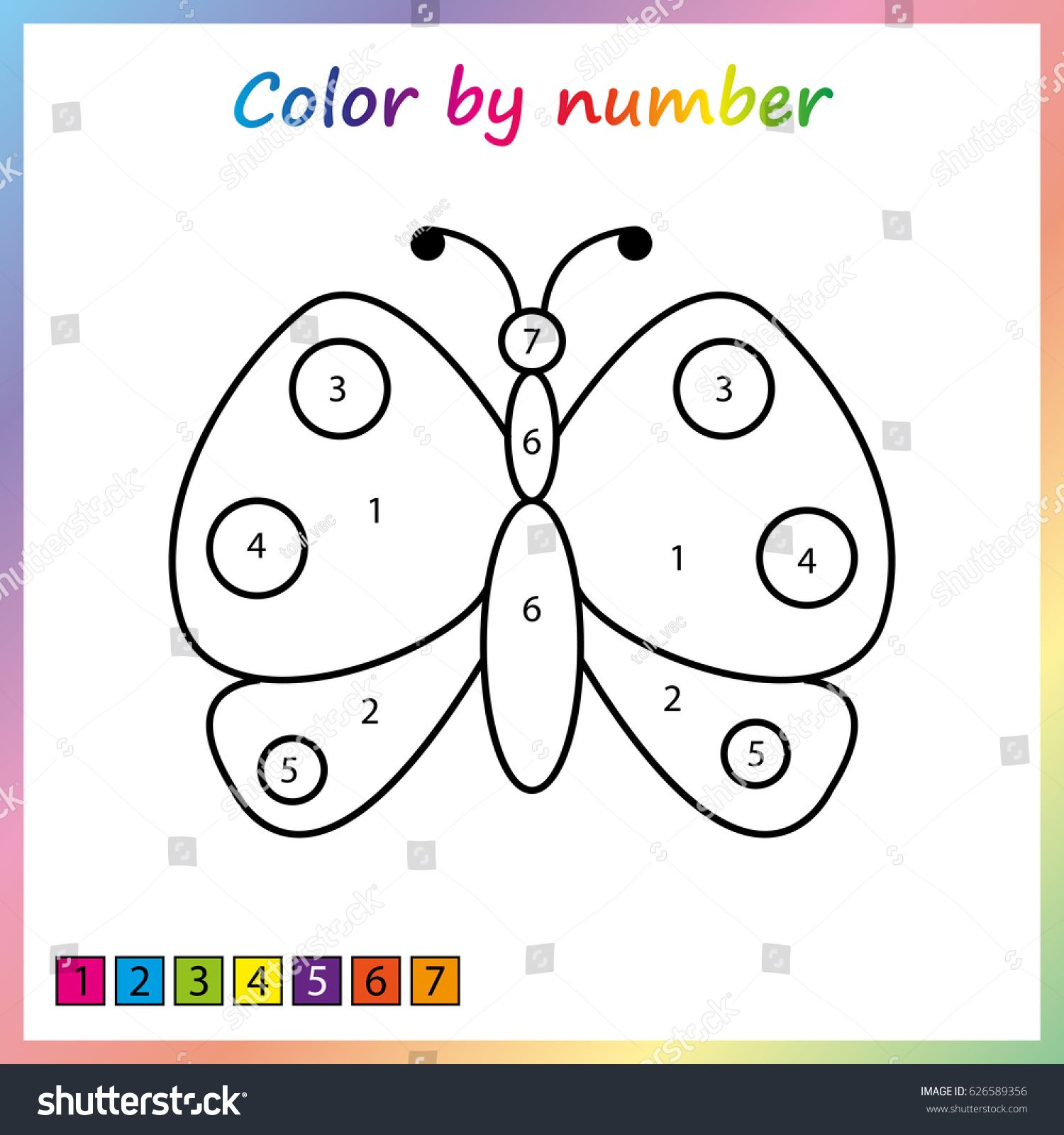 Butterfly Painting Page Color By Numbers Worksheet For Education Game For Preschool Kids Ad Affil Color By Numbers Numbers For Kids Numbers Preschool [ 1600 x 1500 Pixel ]