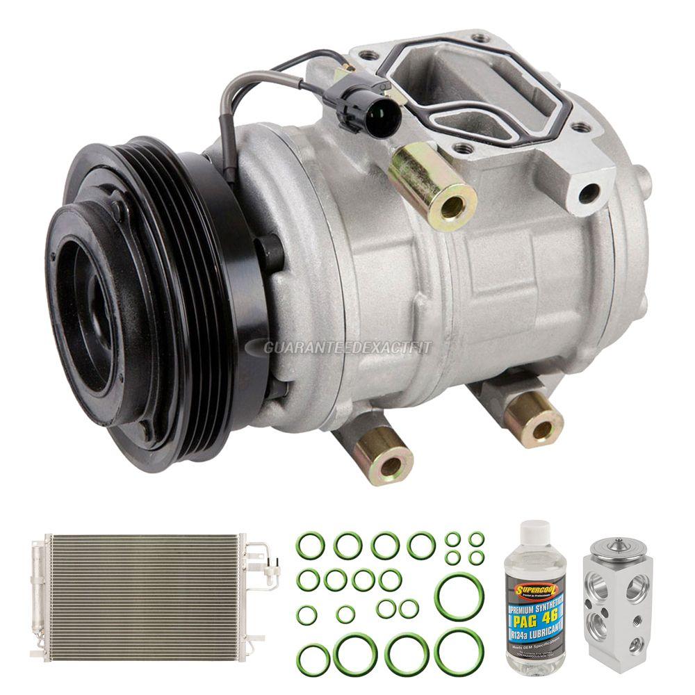 A/C Kit w/ AC Compressor Condenser & Drier For Hyundai