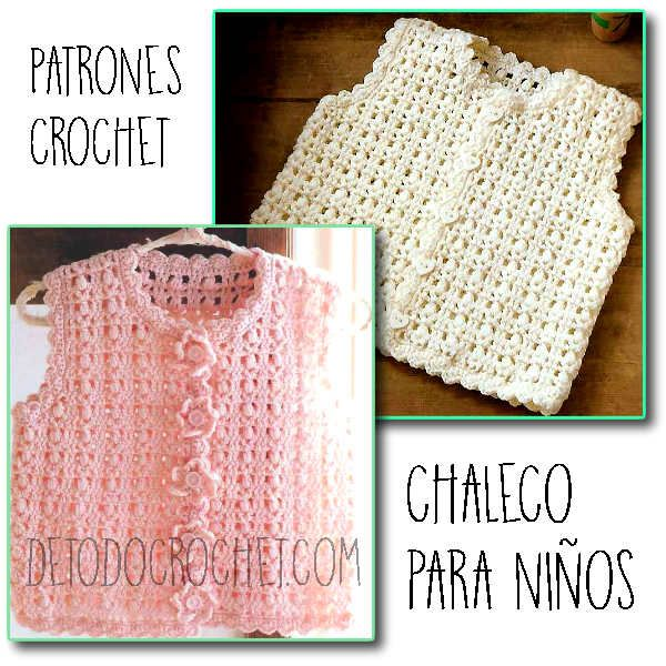 Todo crochet | Chalecos de niña, Alto y Patrones