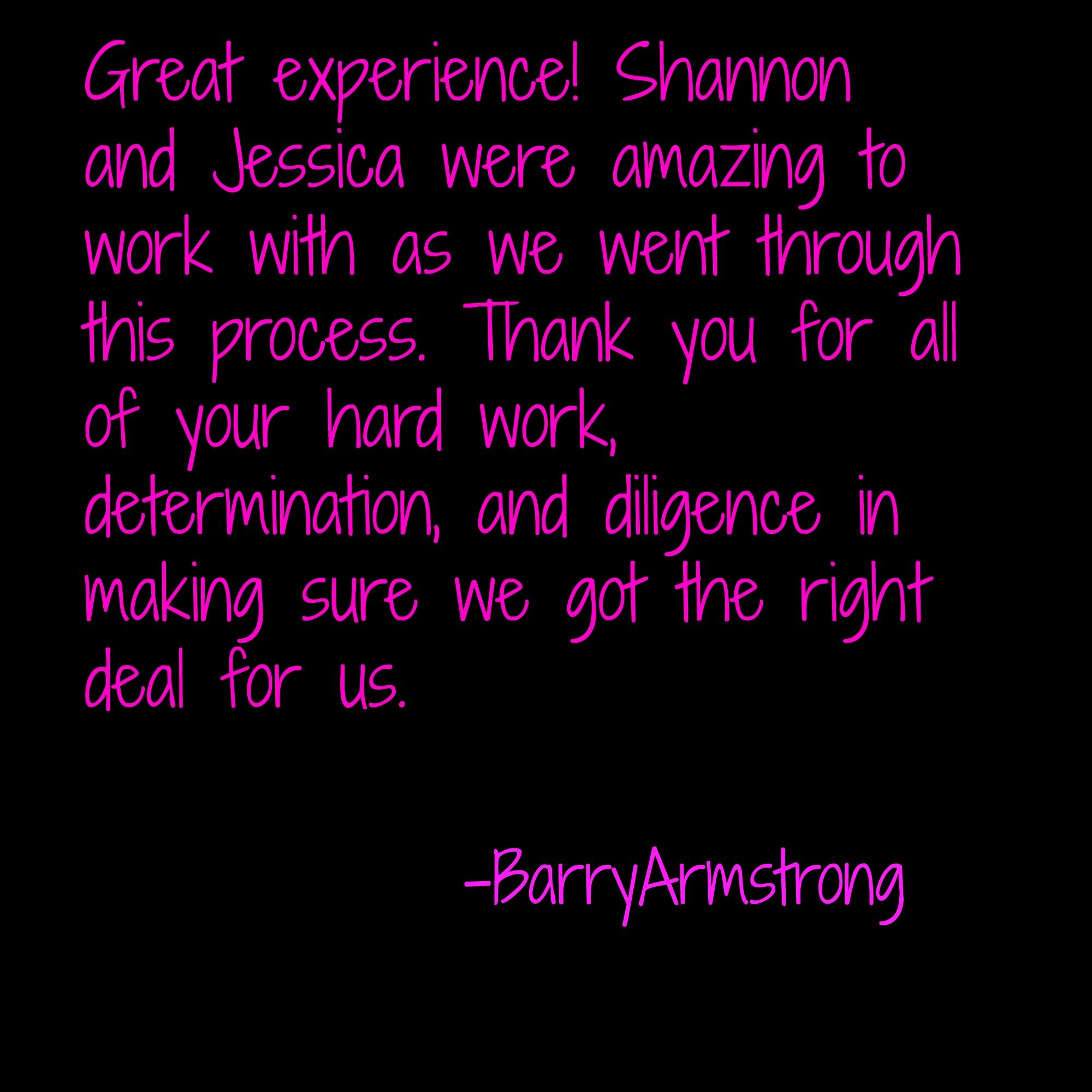 Thank You For Such Kind Words Regarding Jessica And Shannon They