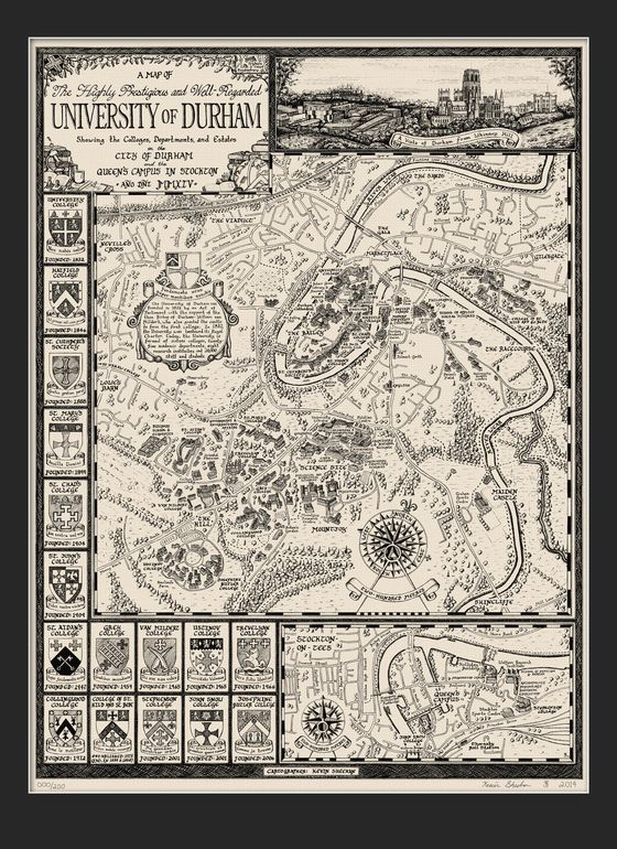Image Of The 2014 University Of Durham Map Purchasing The Past